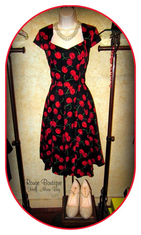 Cherry Hostess Dress