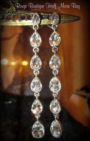 Rhinestone drop dangle earrings