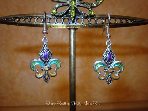 Fleur-de-lys earrings