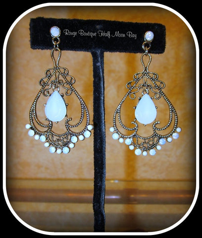 Art Nouveau style earrings