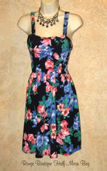 Floral Sundress with blue flowers