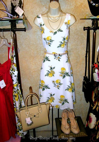 Lemon Hostess Dress