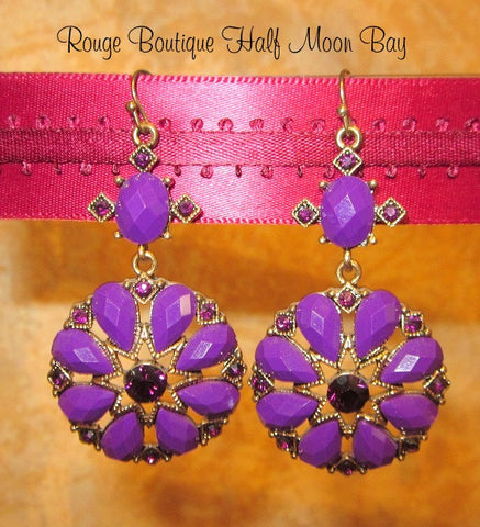 Purple deco earrings