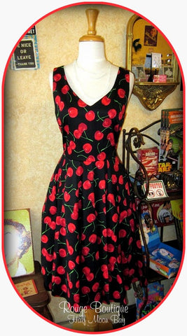 Red Cherry  Hostess Dress