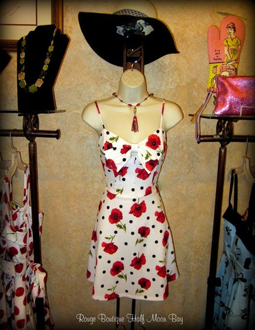 Polka dot and floral Sundress