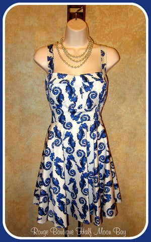 Retro Tie-back sea-horse dress