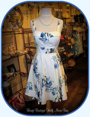 Retro tie-back Floral Hostess dress