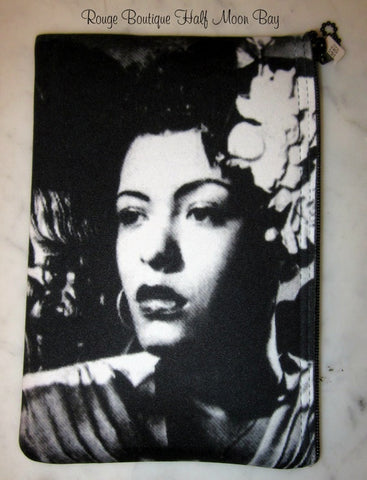 Billie Holiday Zipper Pouch (Medium)