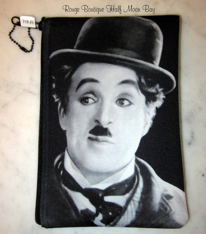Charlie Chaplin Zipper Pouch (Medium)