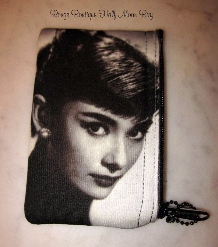 Audrey Hepburn Zipper Pouch (Small)