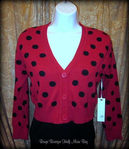 Cropped Cardigan (polka dots)