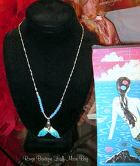 Sea blue Mermaid tail Necklace and Earring set