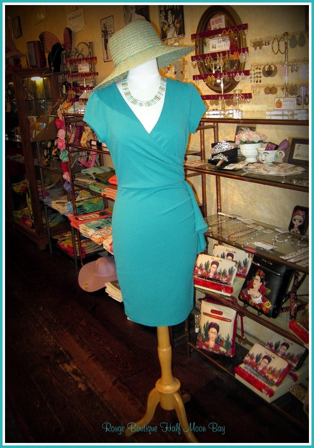 Turquoise Wiggle Dress