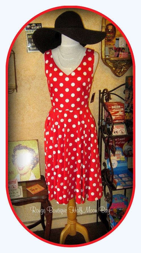 Red Polka Dot  Hostess Dress