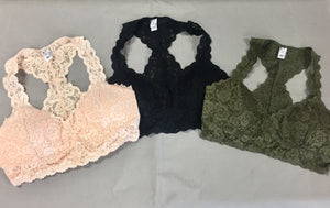 Scalloped Racerback Padded Bralette