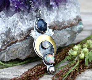 Moon Daughter Sapphire Amulet #1