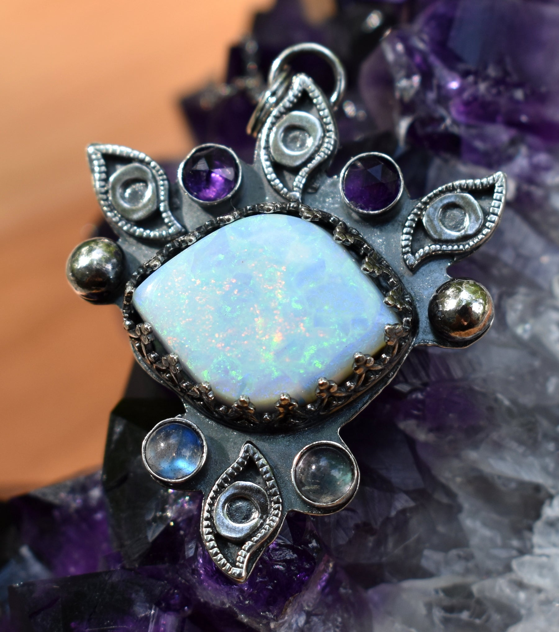 Atlantis Opal Cosmic Eye Amulet #1-Third Eye Collection