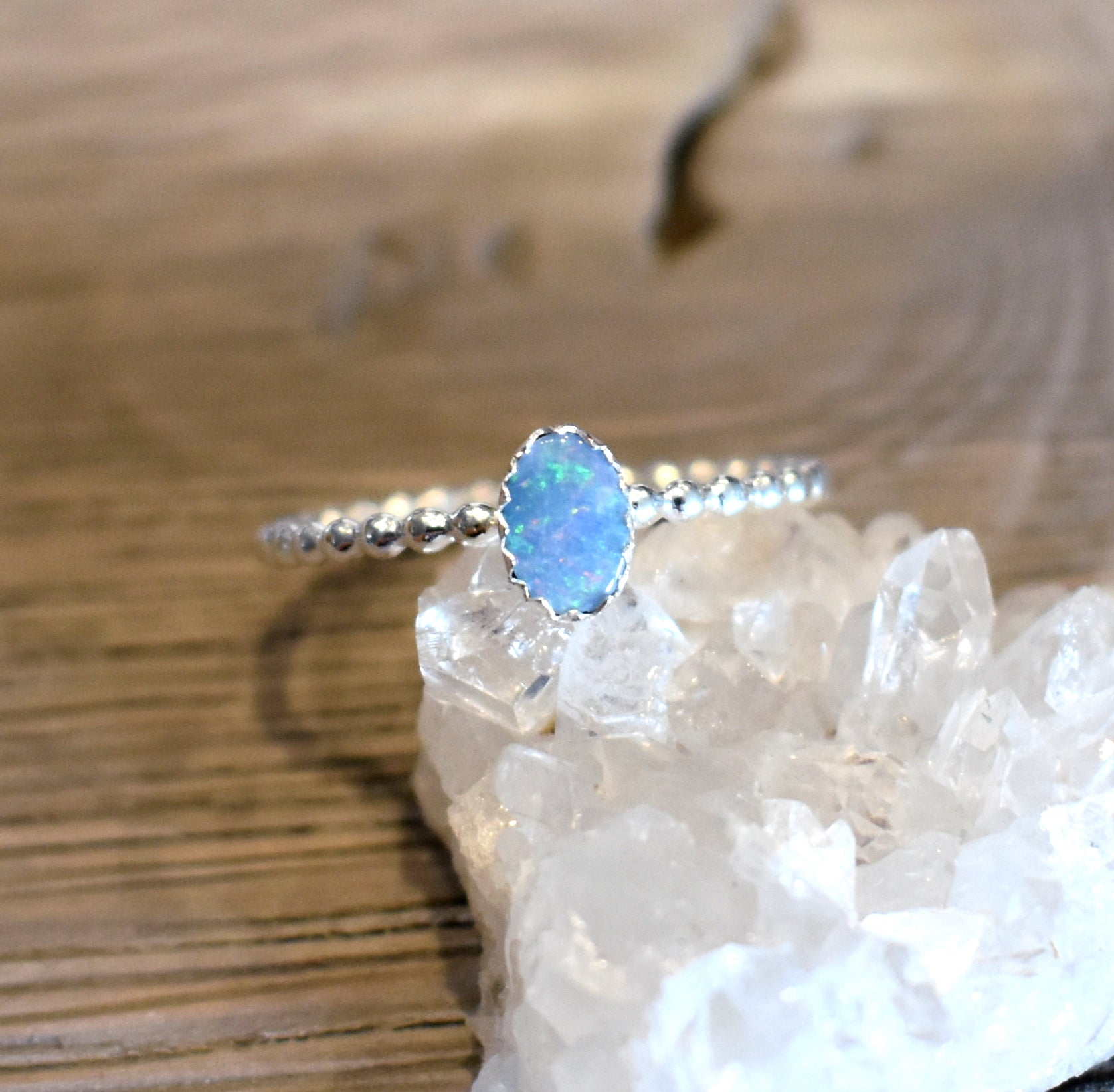 Opal Ring, Australian Opal Ring, October birthstone ring, libra ring, silver stacking ring, birthstone ring, october ring, scorpio ring
