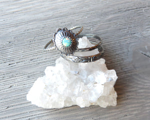 Opal Concho Boho Stacking Set