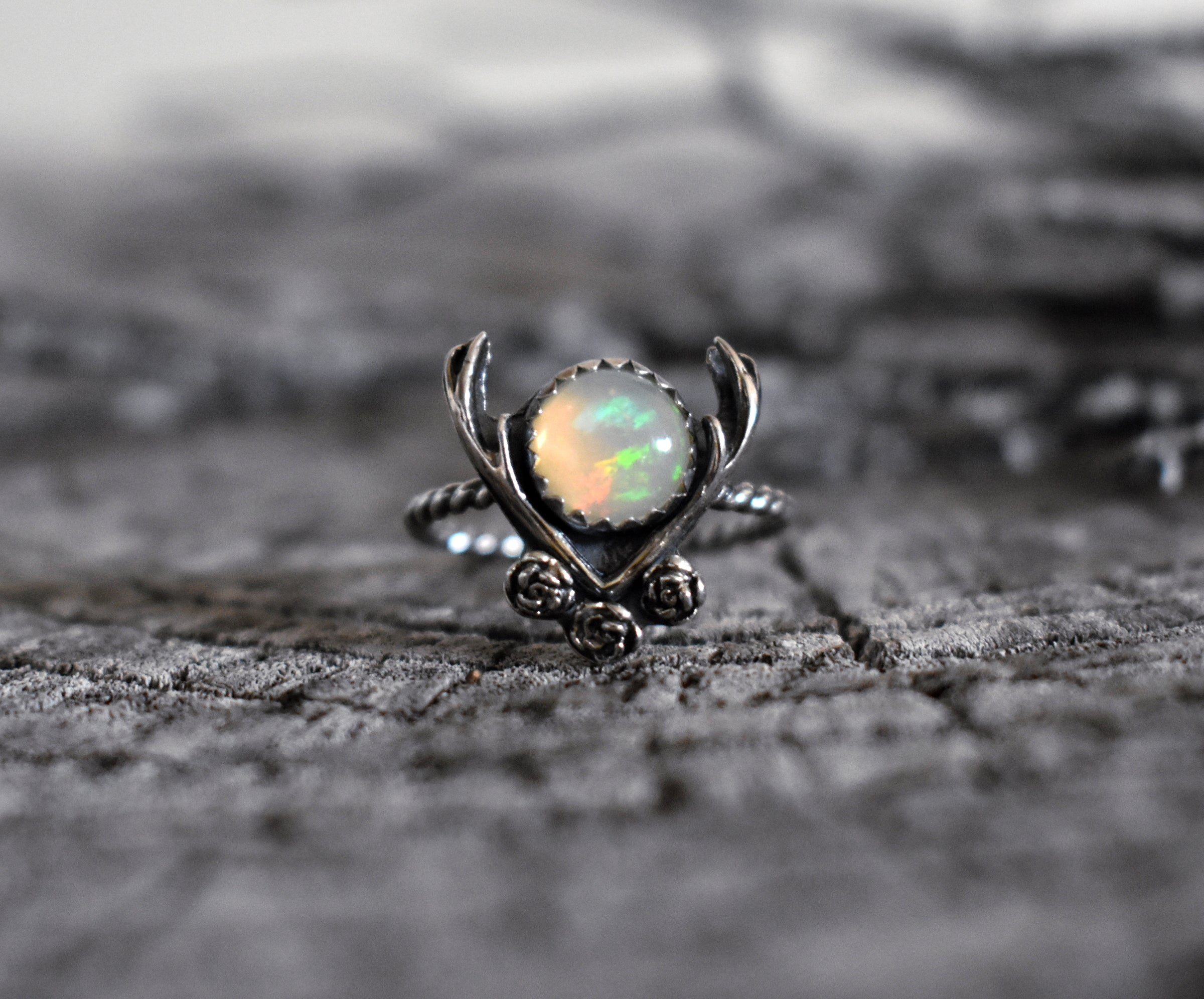 Flora & Fauna Opal Ring-Size 8