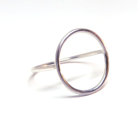 Karma ring, Circle ring, Silver circle ring, infinity ring, eternity ring, open ring, silver statement ring, open circle ring, silver karma