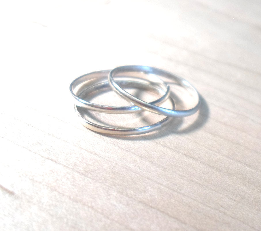 Sterling Silver Stacking Ring Single-Layering Above the knuckle ring -925 Sterling Silver-Single stack ring,midi ring, thumb ring