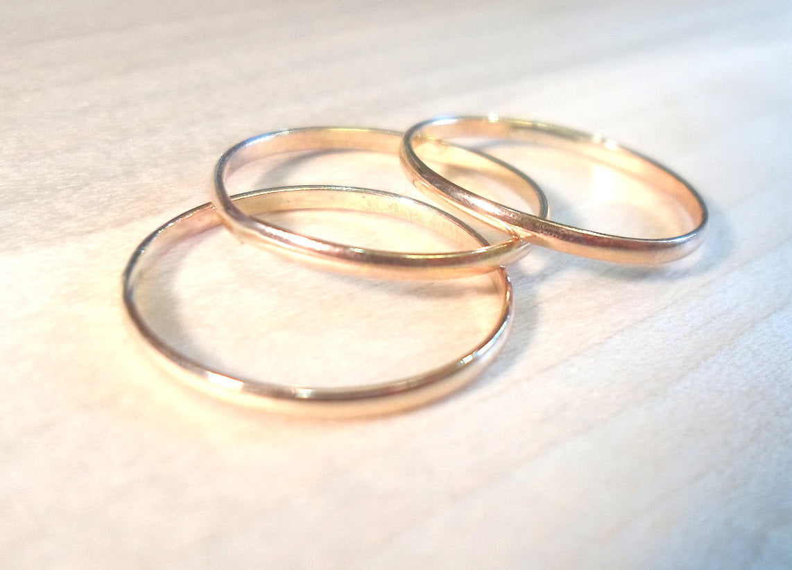 Gold Stacking Rings, Gold rings, layering rings, above the knuckle rings, midi rings, 14k Yellow GoldFilled, knuckle rings, stack rings