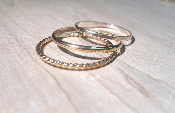 Yellow gold rings, Gold Rings, 14k Yellow gold Stacking Rings, Stackable rings, yellow gold stacking rings, knuckle rings, gold stackers