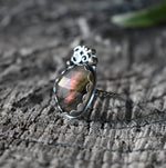 Om Ring #2 Labradorite-Third Eye Collection-Size 9