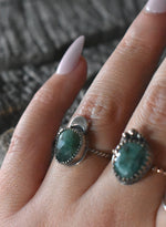Emerald Moon Ring #1- Size 5.5