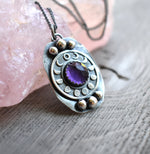 Moon Phases Amethyst Amulet-Pre Order