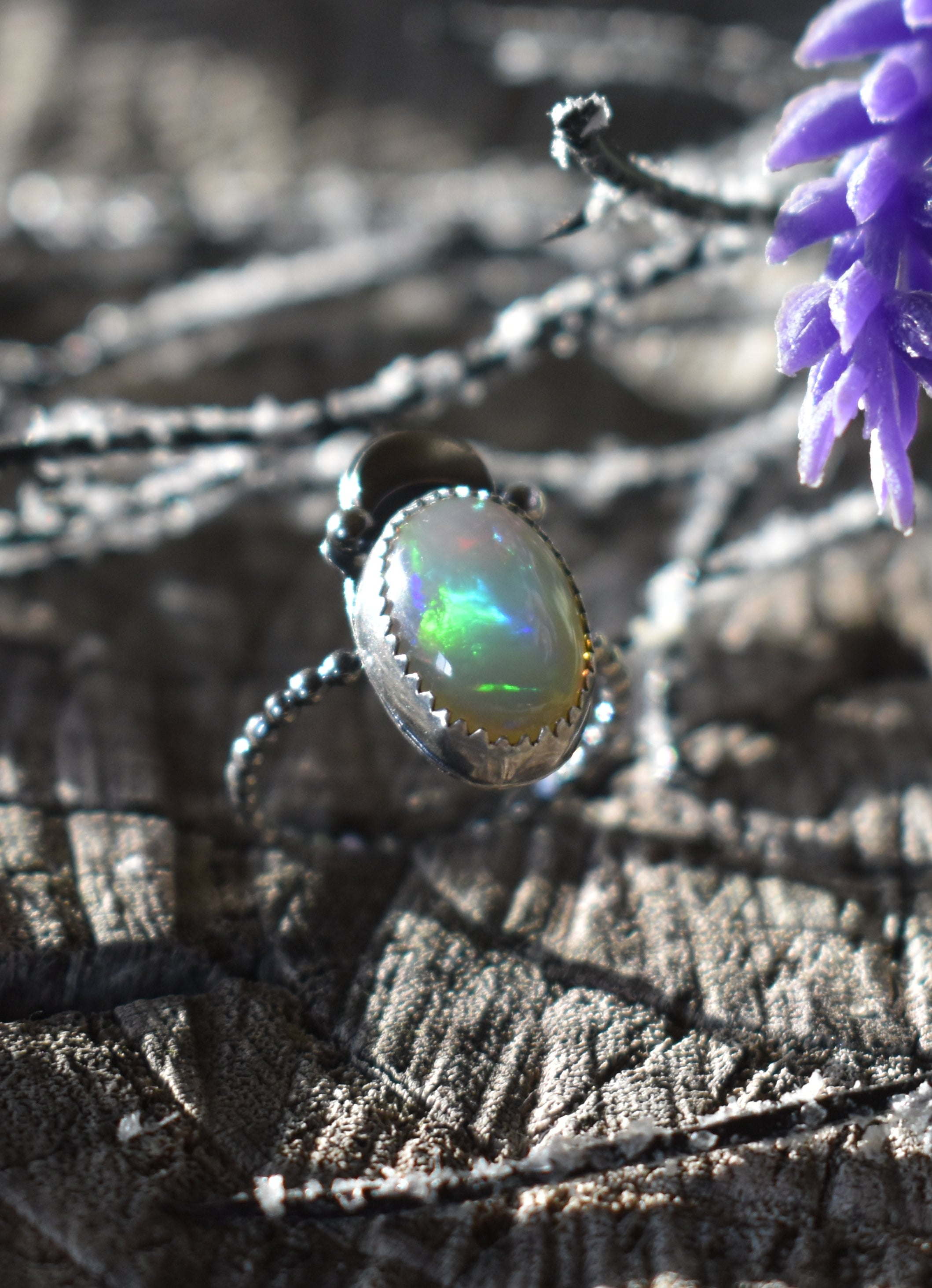 Opal and the Moon-Ring #5 US Ring Size 5.5