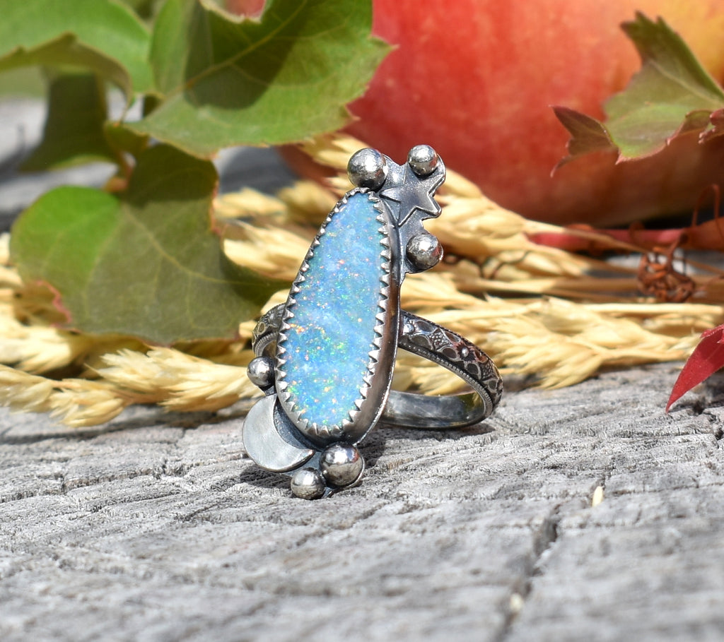Opal and the Moon-Ring #2 US Ring Size 7