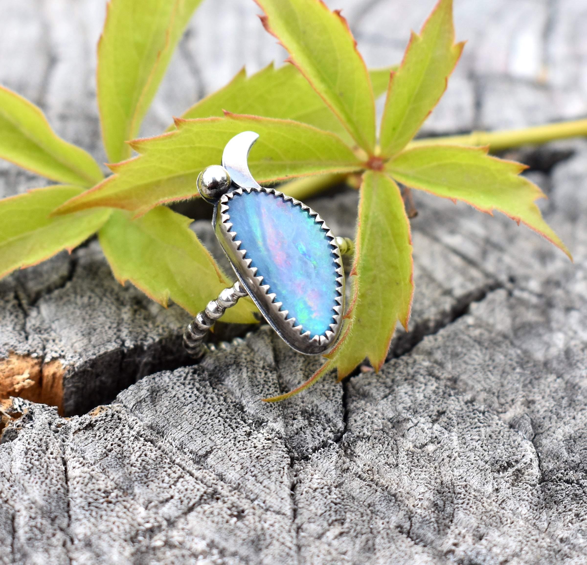 Opal and the Moon-Ring #3 US Ring Size 6.5