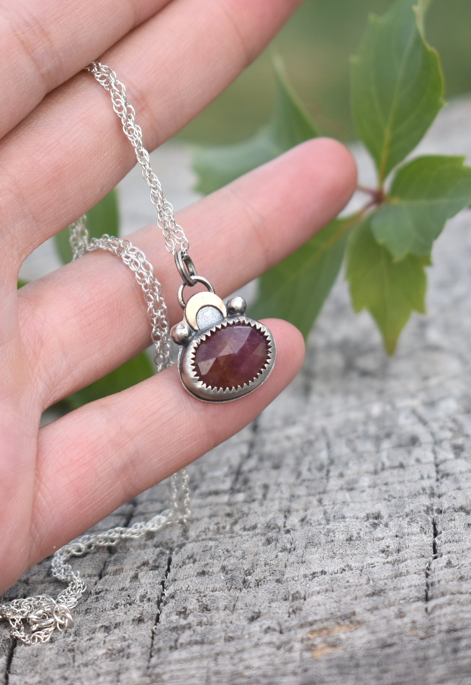 Moon Daughter Red Sapphire Mini Amulet #2