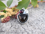 Smoky Quartz & Pyrope Garnet Ring #3 US Ring Size 6