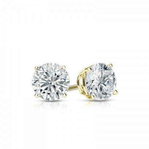 Six Claw Solitaire Stud Diamond Earrings
