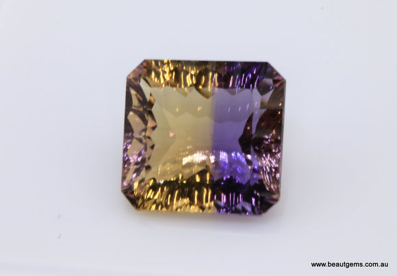 10.19 carat Bi-colour Purple and Yellow Bolivia Ametrine