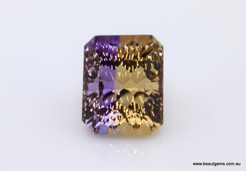 10.69 carat Bi-colour Purple and Yellow Bolivia Ametrine