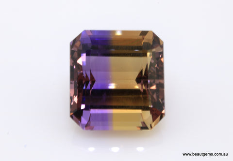 15.38 carat Bi-colour Purple and Yellow Bolivia Ametrine