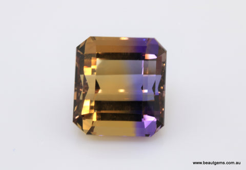 19.52 carat Bi-colour Purple and Yellow Bolivia Ametrine