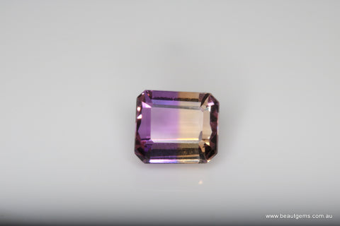 3.10 carat Bi-colour Purple and Yellow Bolivia Ametrine