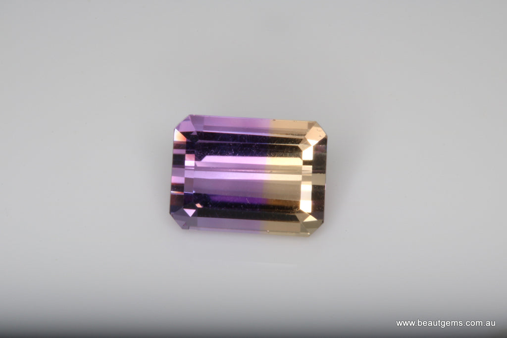 3.72 carat Bi-colour Purple and Yellow Bolivia Ametrine