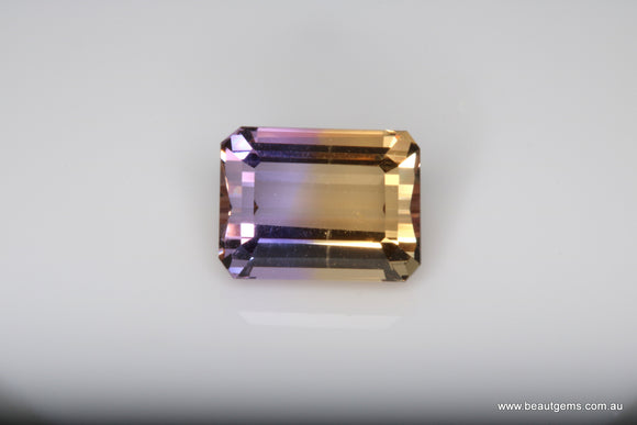 4.05 carat Bi-colour Purple and Yellow Bolivia Ametrine