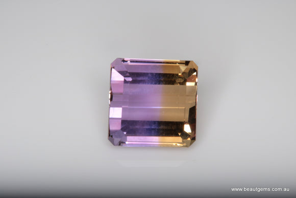 4.96 carat Bi-colour Purple and Yellow Bolivia Ametrine