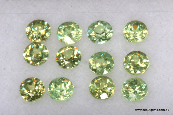 0.09ct Namibia Green Demantoid Garnet