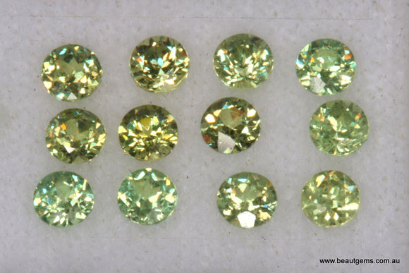 0.11ct Namibia Green Demantoid Garnet