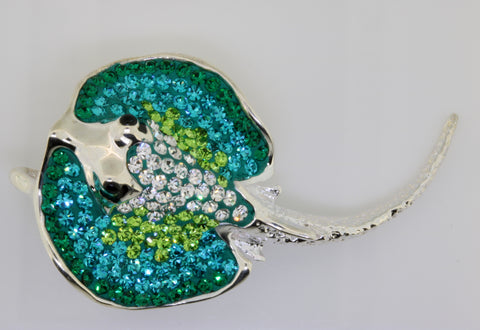 Silver Stingray Brooch / Pendant
