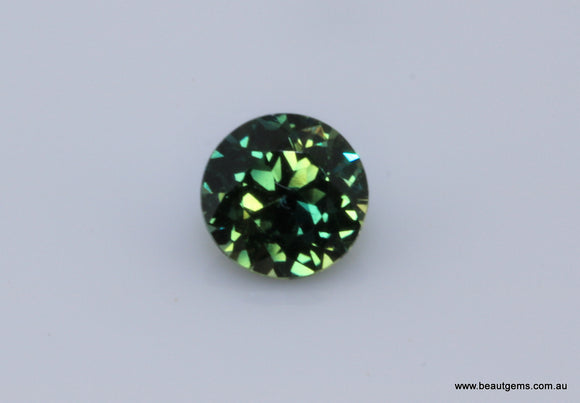 0.58 carat Australia Bi-colour Blue and Green Parti Sapphire