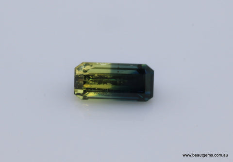 0.96 carat Australia Bi-colour Blue and Yellow Parti Sapphire